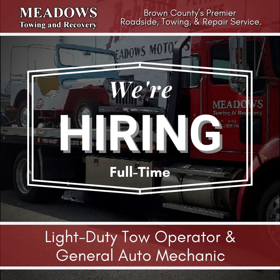 This One Meadows Towing Hiring 6.8.2020